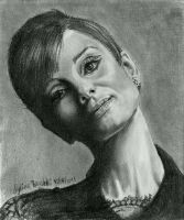 Audrey Hepburn Sketchcard by AngelinaBenedetti