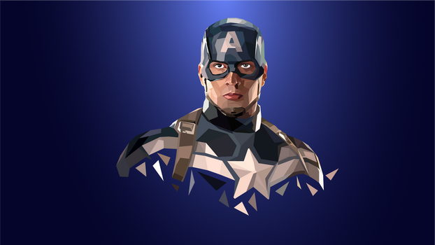 Captain America facets (1920*1080 wallpaper) by fahimed