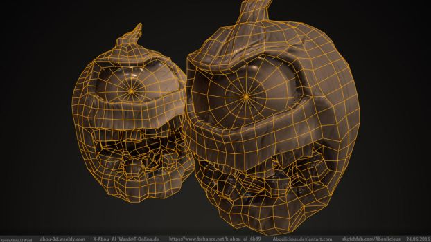 Pumpkin Monster (Normal Detail Wireframe) by Aboulicious