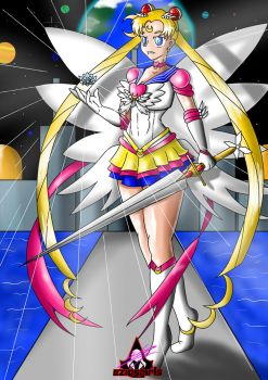 Eternal Sailor Moon and the Sword of Galaxia by EziosGirls