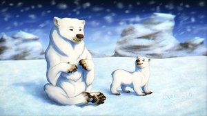 a 'warm-up' drawing of Polar bears [+video] by BonkiHart