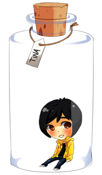 Tina in a Bottle by lunatic-nymphet