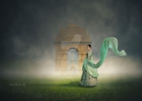 India-Gate-Fashion flying dupatta by vardhanharsh