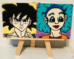 Magnets: Bulma 01 and Goku 01 by wolf-girl87