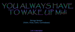 You Always have to Wake up Midi Song and Others by Cosmicmoonshine