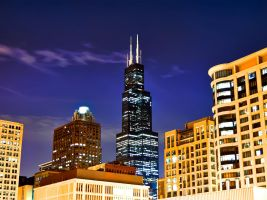 Chicago in Fall by dx