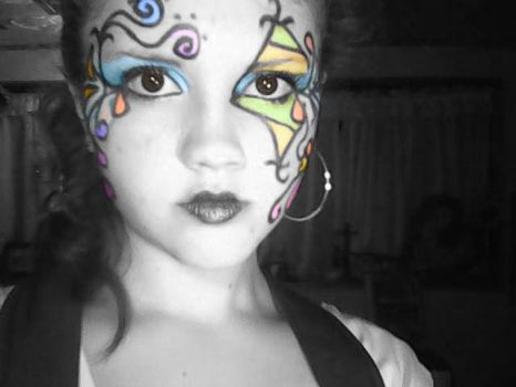 face paint 2 :P by kittyvampcake