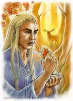 Thranduil - The Colour Of The Fall by IngvildSchageArt