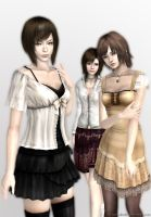 Fatal Frame 4 Heroines by you-aholic