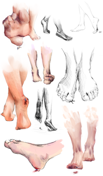 Footstudy (Sontancer) by AnirusFere