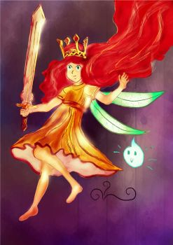 Aurora FanArt - From Child of Light by wildfox76