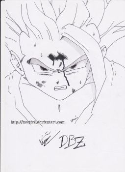 Son Gohan (quick sketch test) - Dragon Ball Z by noctix2