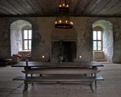 Great hall at Torpa stenhus by RavensLane