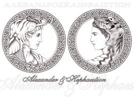 Alexander and Hephaestion by Penthesileia
