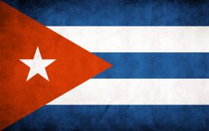 Cuba Grunge Flag by think0