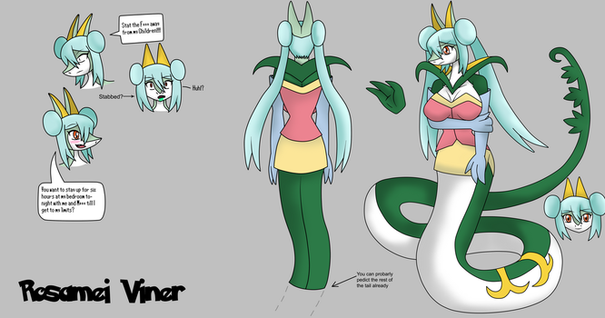 Rosamei the Serperior full ref by Draw-ze-Drawing