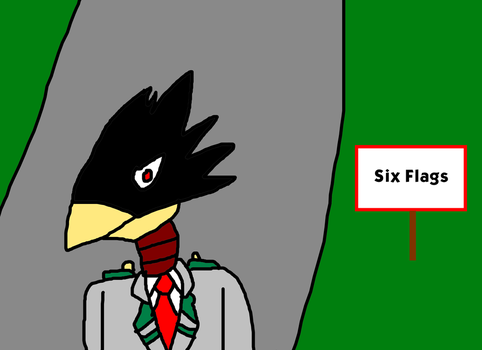 Fumikage Tokoyami is Going to Six Flags! by MikeEddyAdmirer89