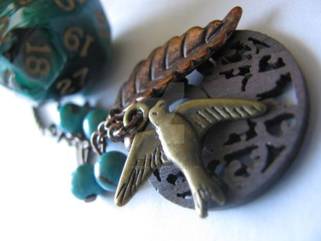A druid's talisman, a dice necklace by SomethingTeal