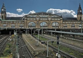 Hamburg - Central Station by pingallery