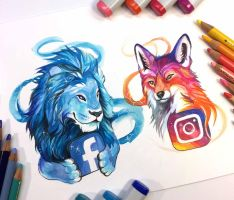 Facebook and Instagram by Lucky978