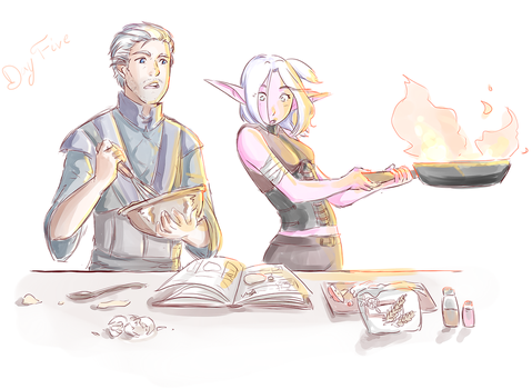 Day 5: Bake together by SkyDrew