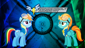 Rainbow Dash and Lightning Dust Wallpaper by Game-BeatX14
