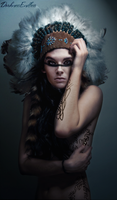 Red Indian Beauty by DarknessEndless
