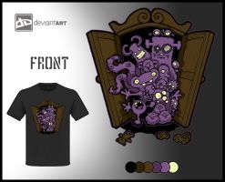 'Wardrobe Monsters' - Tshirt Design by Artby2Heads