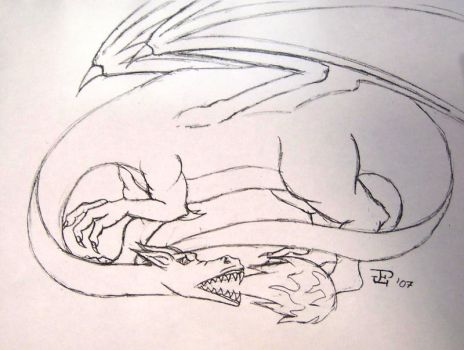 Dragon lineart by Child-of-God