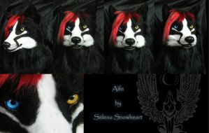 Aife wolf head by SnowVolkolak
