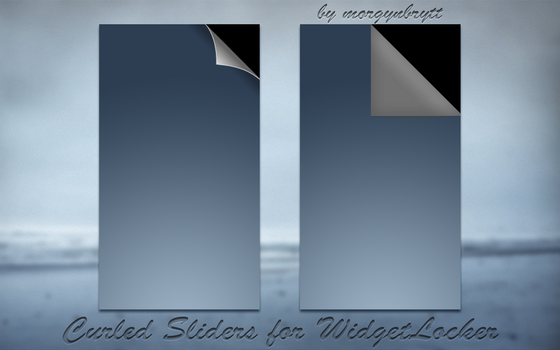 Curled Sliders for WidgetLocker by morgynbrytt