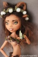 Monster High custom  CLAWDEEN faun portrait by phairee004