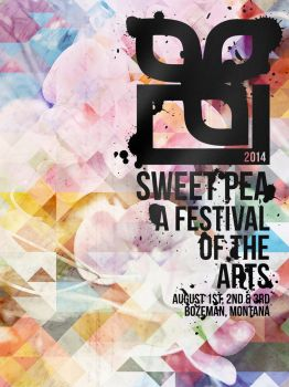 Sweet Pea Poster 2014 by oneshady2many