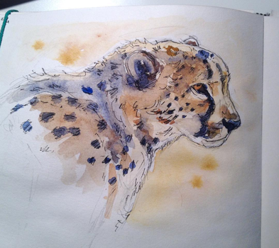Cheetah Watercolor by IceQueenIRL