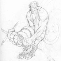 Hellboy Throw-Away by Captain-D