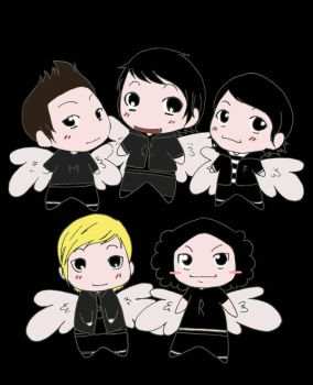 MCR Winged Chibies by putrithewicked