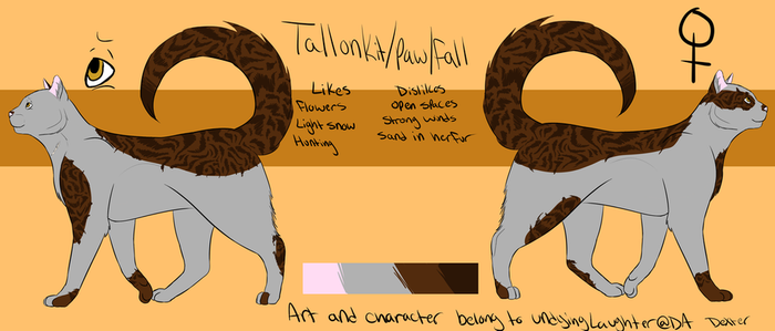 Tallonkit/paw/fall by undyingLaughter