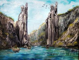 The Argonath  by Aronja