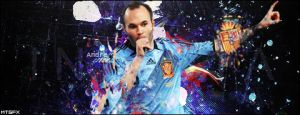 Andres Iniesta New Style Signture by meteorblade