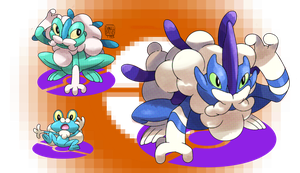 Froakie's Evolutions by ToPpeRa-TPR