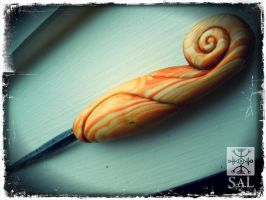 Western Red Cedar and Steel Awl by Lolair