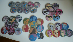 BronyCon 2012 Buttons! by sparklepeep