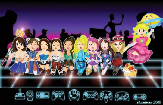 Chibi Gamer Girls by DannimonDesigns