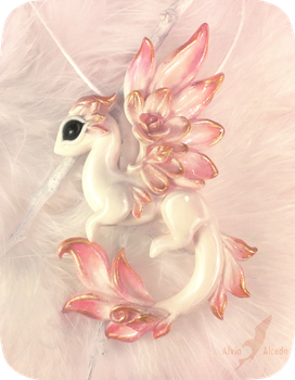 Albino rose dragon by AlviaAlcedo