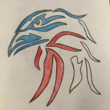 Tribal Eagle by renegadeRifleman