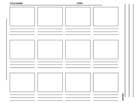 Comic Storyboard Template Image Collections Template Design Free