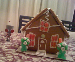 Invader Zim Gingerbread House by ChozoBoy