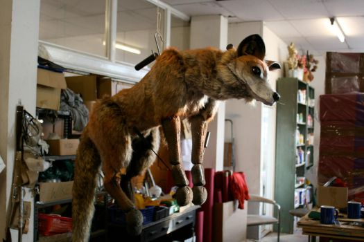 Fox puppet..hung by Nectarine