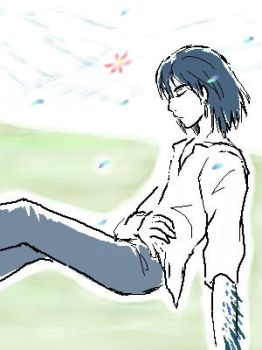 Howl : resting his wings by shibu