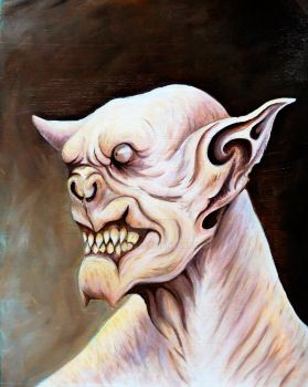 Demon Bat Oil painting by Crispin23
